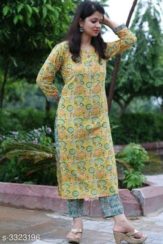 Kurti set: variable free COD Price variable: Enquiry and booking on Cash on Delivery availab. Simple Kurta Designs, Kurta Designs Women, Stylish Dress Designs, Modest Dresses, Stylish Dresses, Chudidhar Designs, Simple Indian Suits, Printed Kurti Designs, Kurti Embroidery Design