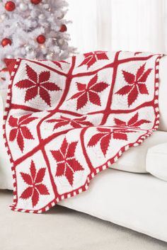 Loops & Threads® Impeccable™ Pinwheel Blanket (Crochet)