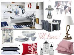 inredning marint - Sök på Google Extra Bedroom, New England, Beach House, Nautical, Cottage, Navy, Random, Google, Summer