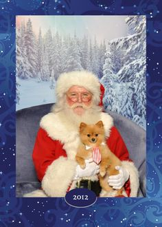 Andy, my Pomeranian, with Santa, at International Plaza in Tampa Florida - Christmas 2012 -  #pinitforpetsmart #pomeranian #dog #santa #christmas