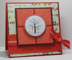 Happy Holidays using Stampin Up A Tree for All Seasons retired stamp set