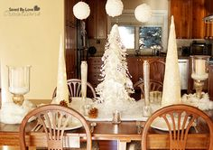 Christmas Dining Room Table Scape with At Home  #AtHomeforChristmas #AtHomeFinds