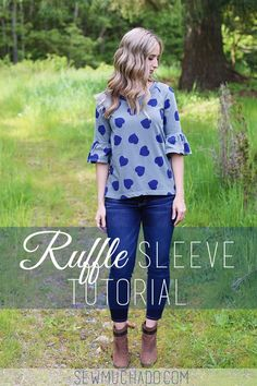 DIY Ruffle Sleeve Tutorial - so easy to add to any pattern!