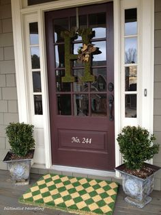 Next project. Monogram letter decorated for spring for our front door...and I want this door too!