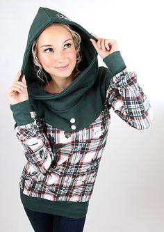 "MEKO Hoodie ""FLORA_2Karo""  von meko® Store   auf DaWanda.com"