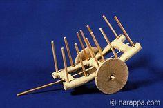Mehrgarh Period VII:Nausharo. Terra cotta toy carts from the Harappan period site of Mehrgarh:Nausharo in Baluchistan.