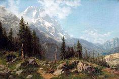«Лес в горах» Последняя треть XIX в. холст, масло