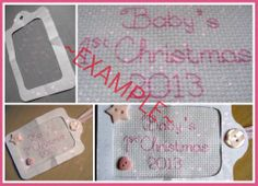 Example pic of 1st Christmas Tag - pink