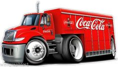 I thought this was funny. Only if the truck actually looked like that. Car Part Art, Truck Tattoo, Big Rig Trucks, Tow Truck, Pepsi Cola, Coke, Always Coca Cola, Car Part Furniture, Truck Art