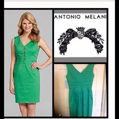 """⬇ HP4/22 NWT! """"ANTONIO MELANI"""" SEXY DRESS!!! NWT!! From Dillard's! This dress is the bomb!!! Be Lady Like or show as much Cleavage as you want!! Hooks on the bust area allows you to dress it up or get SEXY!!   Am 5'4""""  and it lays about an inch above my knee! A MUST HAVE!!! Antonio Melani Dresses"""