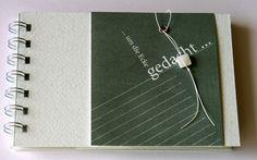 """Notizbuch """"um die Ecke gedacht"""" ..."""