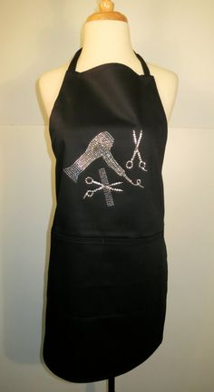 Hairdresser/ Hair Stylist Rhinestone Apron by Exquisite4You, $19.99