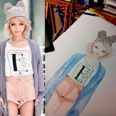 Found thos pretty picture on the internet and was inspires to draw her!!!  =]