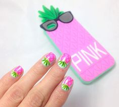 Imagen de nails, nail art, and pink