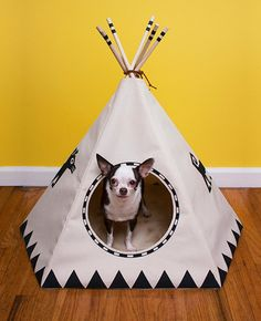Raven Black Dog Teepee Lg Door by Snaggs on Etsy