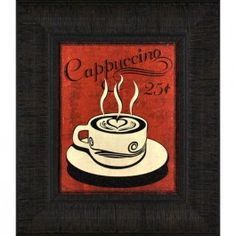 Coffee shop wall art for the kitchen