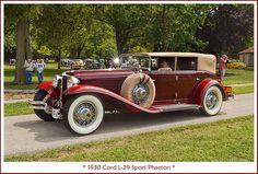 1930 Cord L-29 Sport Phaeton Car Images, Car Photos, Images Photos, Classic Motors, Classic Cars, Cars Usa, Car Museum, Motor Car, Motor Vehicle