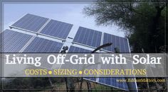 There are many considerations when someone goes off-grid. One of the big ones is energy usage . #solar #offgrid