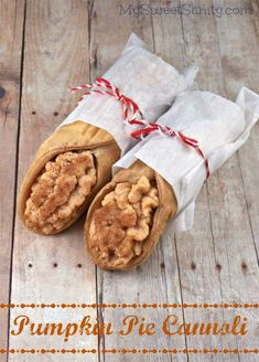 Pumpkin Pie Cannoli - My Sweet Sanity