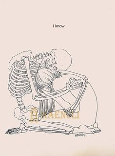 (Art by Haenuli Shin) Skeleton Drawings, My Drawings, Haenuli Shin, Illustrator, Korean Artist, Dark Art, Art Inspo, Cool Art, Illustration Art