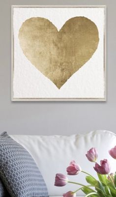 gold foiled heart print
