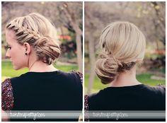 Twist Me Pretty: Day 11- braided messy bun