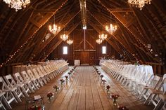 Interesting set-up when ceremony and reception must share space...
