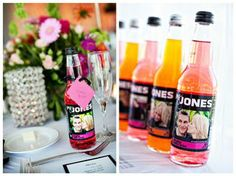 Jones Soda wedding favors. . .now I need to find a man with the last name of Jones. . .this would be perfect!