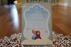 Frozen Invite by PaperDreamCre