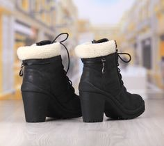 Ghete Dama Negre Cod: 293pd Boots, Winter, Fashion, Crotch Boots, Winter Time, Moda, Fashion Styles, Shoe Boot, Fashion Illustrations