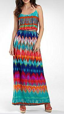 Bisou bisou printed maxi dress