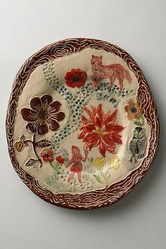 Nathalie Lété, plat en céramique, Petit chaperon rouge, 2008