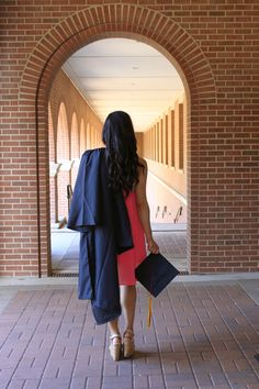 Texas State University Campus - College Graduation Photos with cap and gown