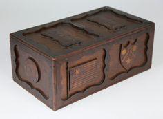 Ditty Box - Folk Art Marquetry Slide Top Ditty Box | Rafael Osona Auctions Nantucket, MA