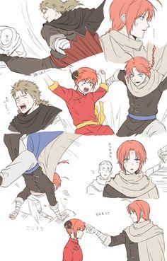 Kamui Gintama, Manga Anime, Anime Art, Anime Family, Okikagu, Anime Love Couple, Anime Figures, Yandere, Doujinshi