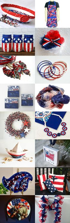 Thank A Veteran Today by Dawn Chambers on Etsy--  #memorial Day #4th of #july #etsy #treasury #red #white and #blue #patriotic #bowl #basket #apron #wreath Pinned with TreasuryPin.com