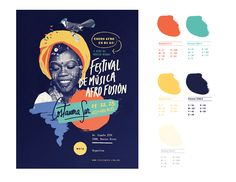Full graphic identity development for an afro-fusion festival done in Buenos Aires, Argentina.Last University project at Cátedra Gabriele''s course