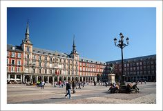 Plaza Mayor, Madrid.  Great place to go for some nighty entertainment, tapas and cava!  Visited May 2008