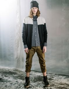 After The Dark - Knit Shirt Chinos Beanie Croft Boots Autonomy Winter Fashion Style Look Book