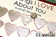 DIY Valentine's Day Gifts: Scratch-off Cards | Beads, Lace and Shoes