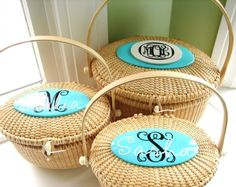 Well hello basket purse with monogram. I think you are pretty! I think I need you.