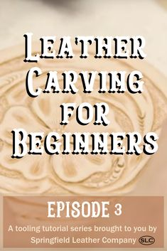 Join Denny for part 3 in our Beginners Leather Carving series! Denny adds finishing touches to the rounders he started working on in Episode Leather Carving, Leather Art, Sewing Leather, Leather Gifts, Leather Tooling, Leather Design, Leather Engraving, Leather Stamps, Custom Leather