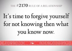 It's time to forgive yourself for not knowing then what you know now. I forgive myself for not knowing my sister and BFF were gossiping, backstabbing, mean, soul sucking, home wrecking, nosey bitches...oh and YES... H-Y-P-O-C-R-I-T-E-S.....