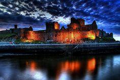 Peel castle  reflections - ISLE OF MAN.