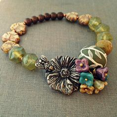 Art Bead Scene Blog: 5th Day of Christmas: Eternal Summer Bracelet - Tutorial by Heather Powers
