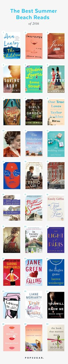 The perfect Summer reads for your beach weekends!