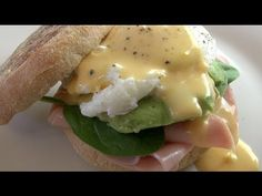 EGGS BENEDICT - You tube video my hubby's fave