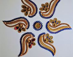 Your place to buy and sell all things handmade Indian Embroidery Designs, Bead Embroidery Patterns, Simple Embroidery, Beaded Embroidery, Rangoli Designs Flower, Rangoli Ideas, Rangoli Designs Images, Clear Acrylic Sheet, Acrylic Rangoli
