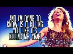 The Story of Us (Live) - Taylor Swift - Lyrics