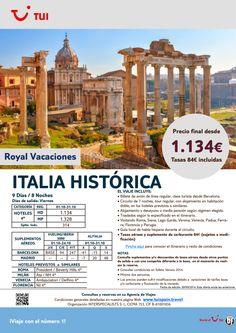 Italia Historica 9 dias/ 8 noches. Viernes de Octubre. Precio final desde 1.134€ ultimo minuto - http://zocotours.com/italia-historica-9-dias-8-noches-viernes-de-octubre-precio-final-desde-1-134e-ultimo-minuto-2/